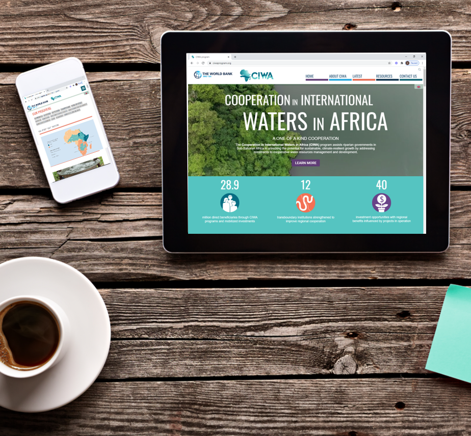 Scriptoria creates new website and interactive map for Cooperation in International Waters in Africa